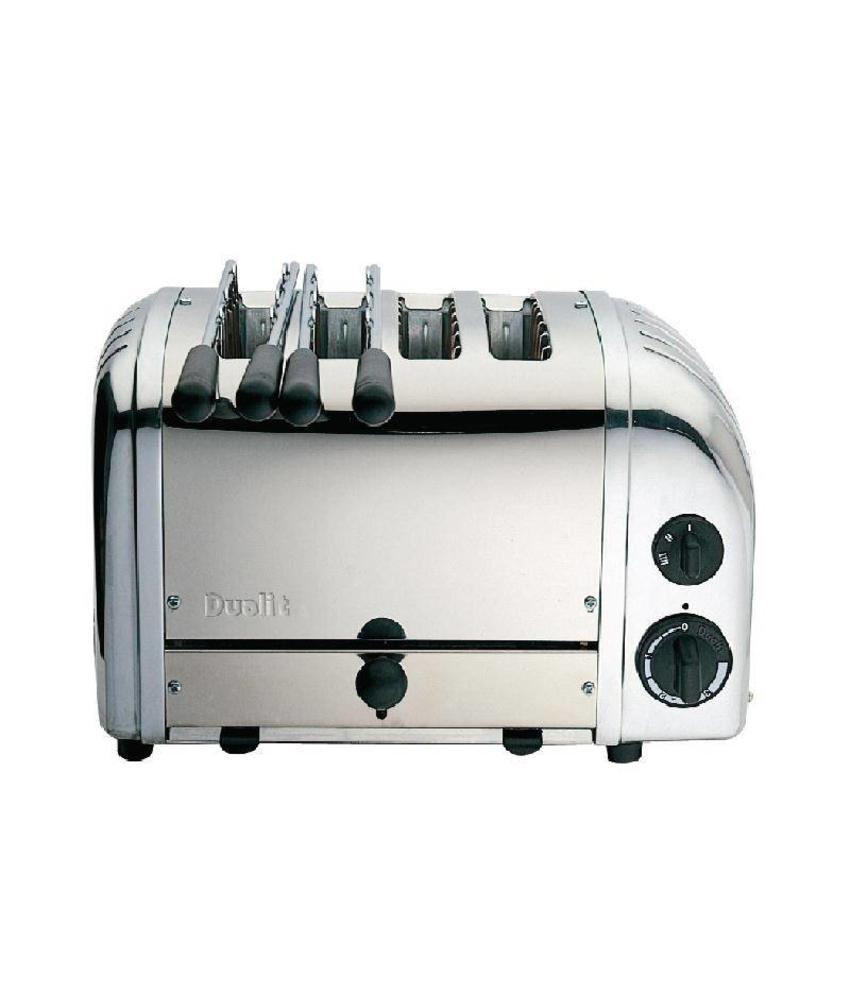 Dualit Dualit 2 x 2 combi toaster 4 sleuven RVS 42174