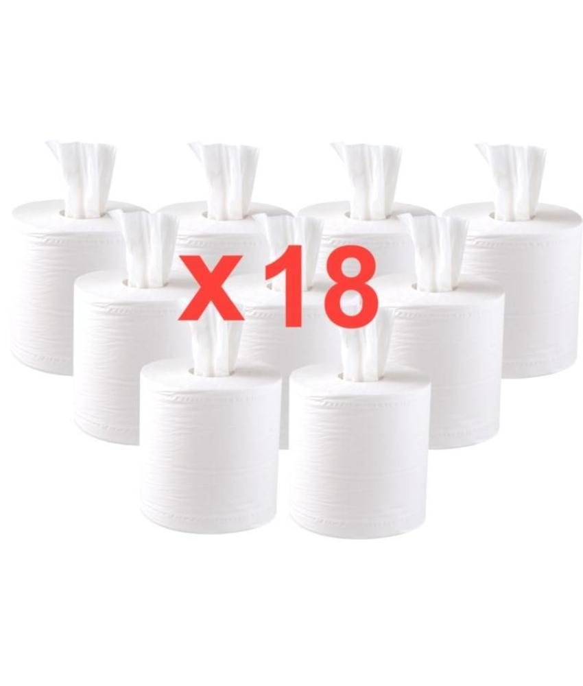 jantex Jantex centrefeed handdoekrollen wit 18 rollen 18 stuks