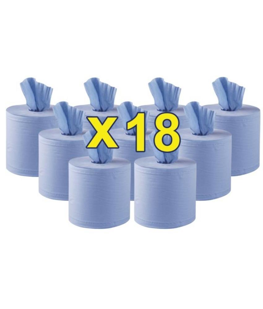 jantex Jantex centrefeed handdoekrollen blauw 18 rollen 18 stuks