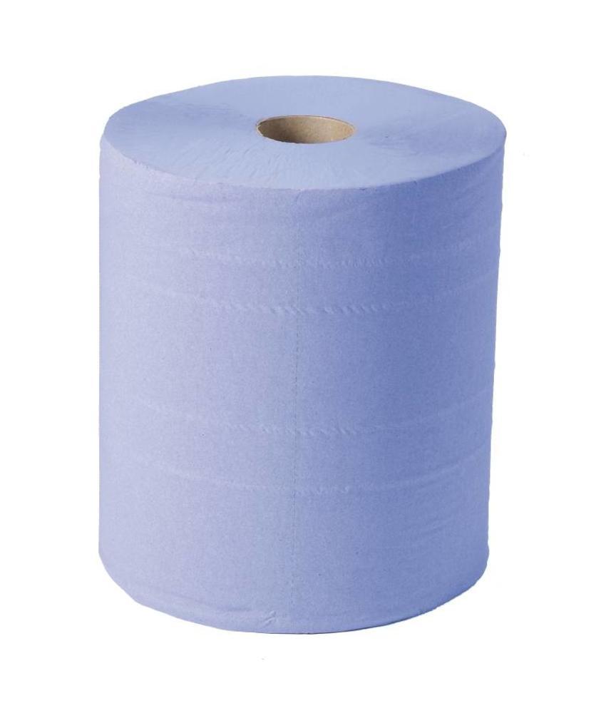 Jantex Jantex blauwe maxi handdoekrol 2-laags 2 rollen 2 stuks
