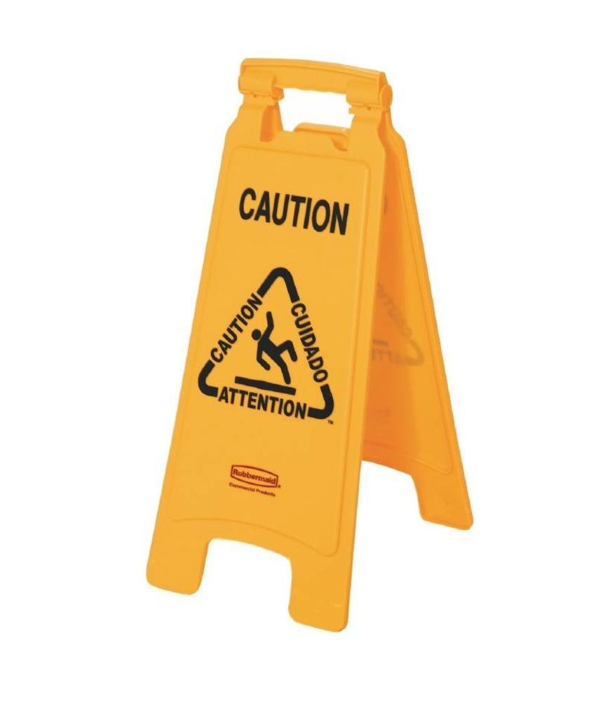 "Rubbermaid Rubbermaid meertalig waarschuwingsbord ""Caution"""