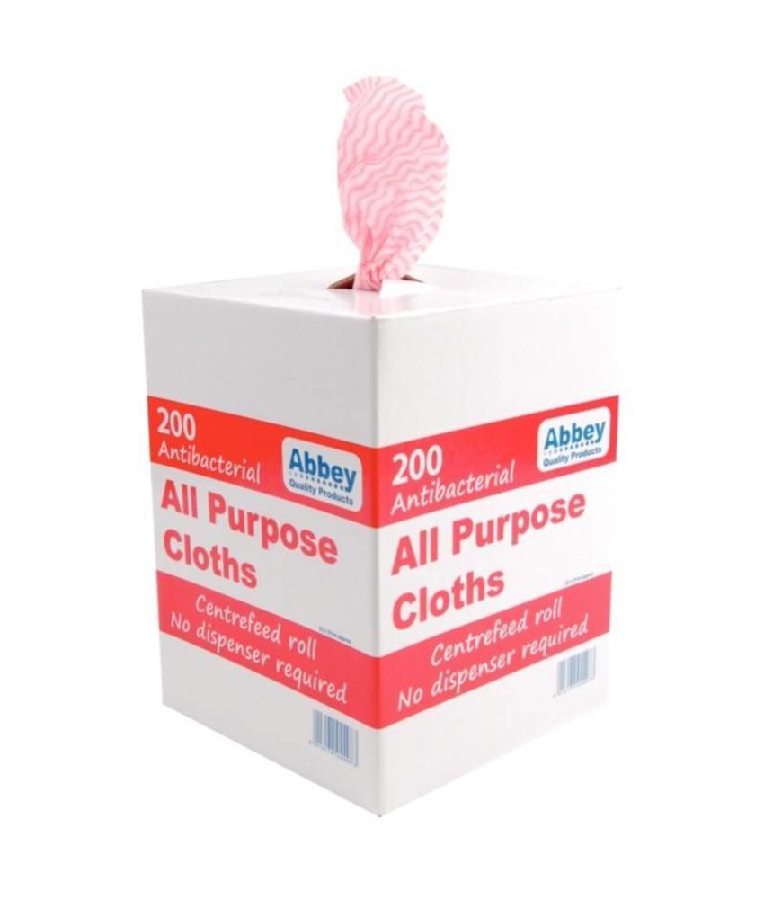 jantex Jantex antibacteriële multifunctionele doekjes rood 200 stuks