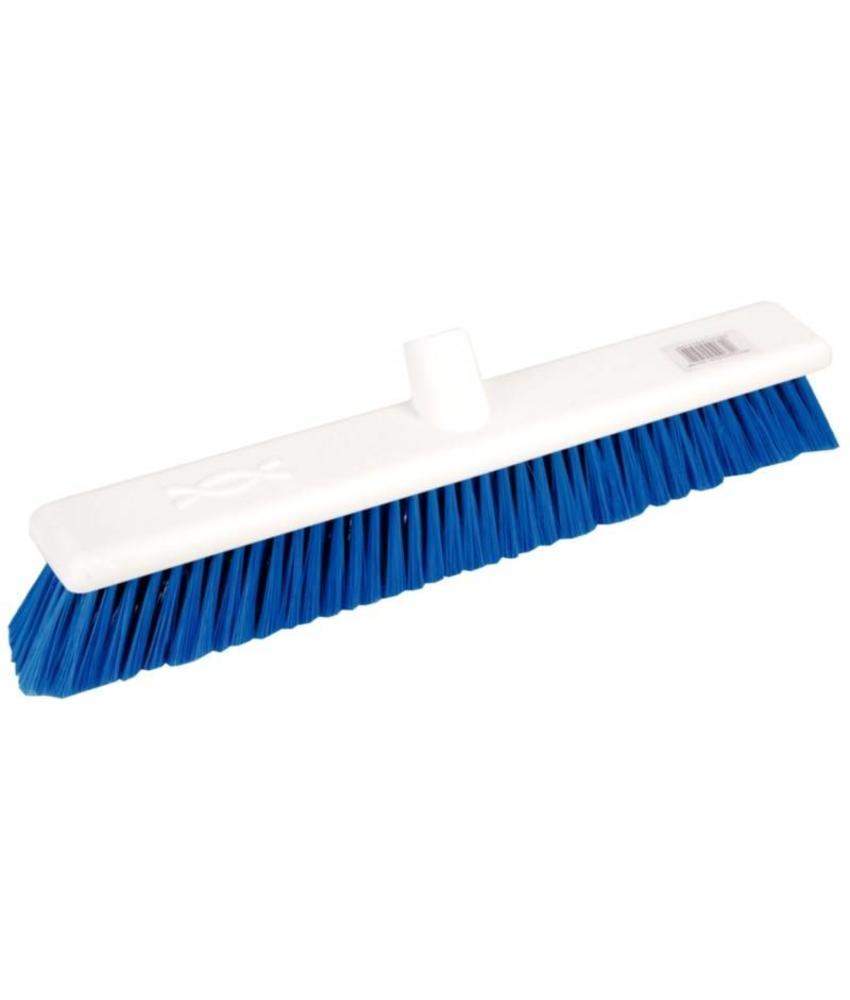 Jantex Jantex zachte hygiënische bezem 45cm blauw