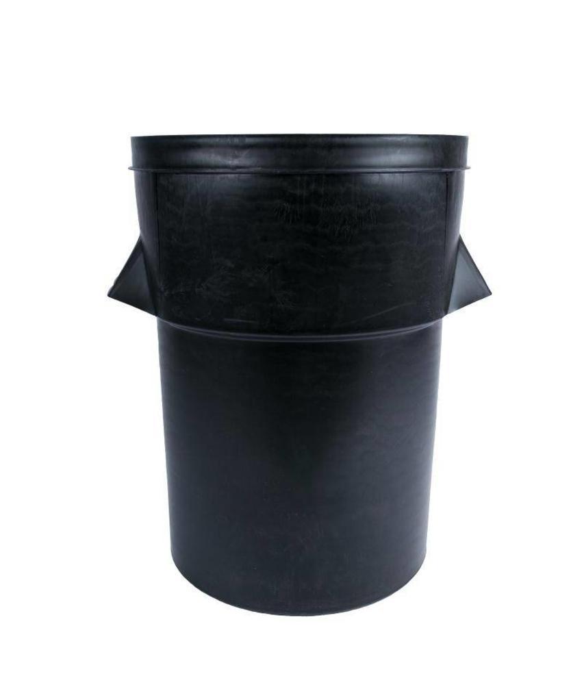 Bolero Zwarte kunststof afvalbak 94ltr