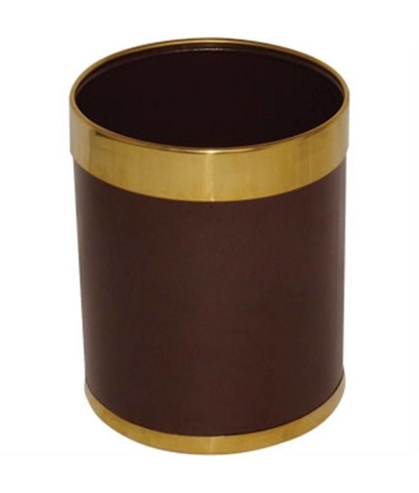 Bolero Bolero prullenbak bruin met gouden rand