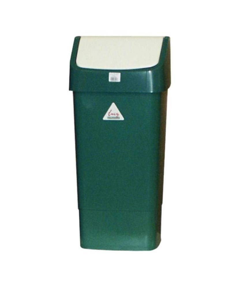 SCOTT YOUNG SYR afvalbak met schommeldeksel groen