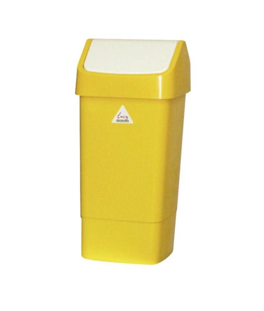 Scot Young SYR afvalbak met schommeldeksel geel