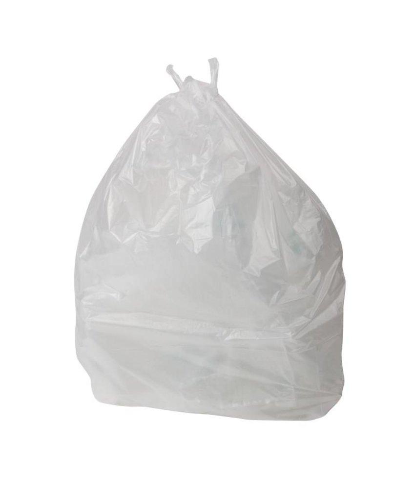 Jantex tuimelemmer vuilniszakken wit - 1000 stuks