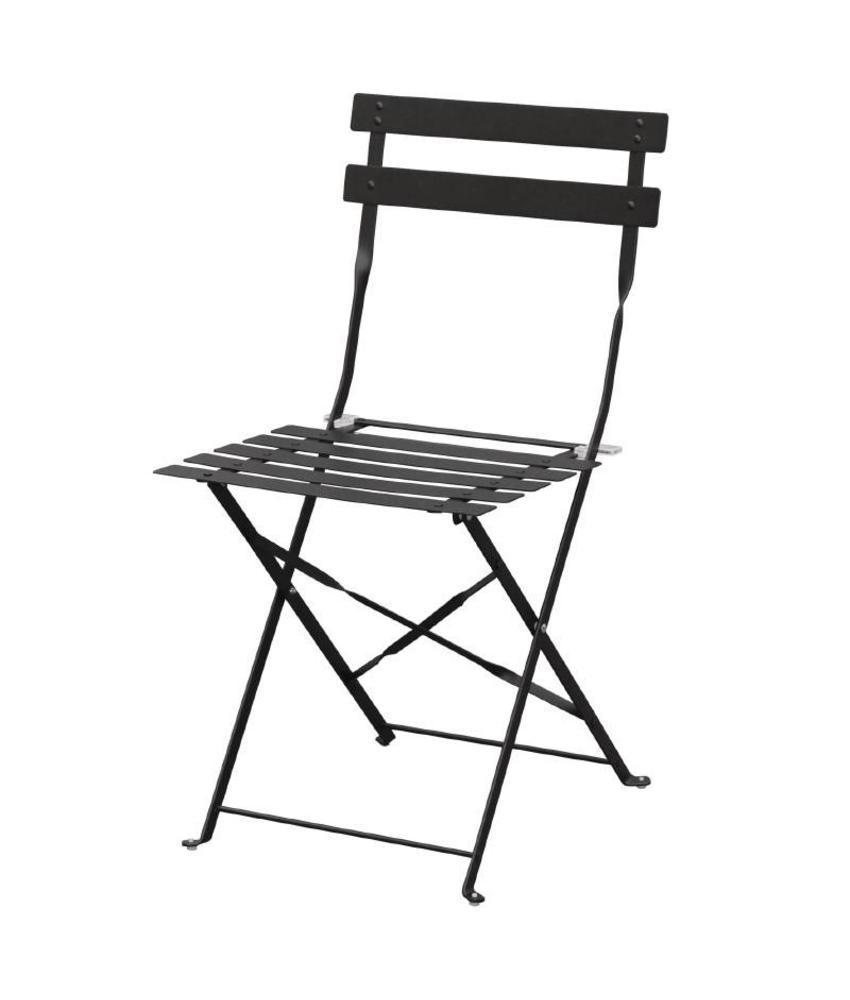 Bolero Bolero stalen opklapbare stoelen zwart 2 stuks