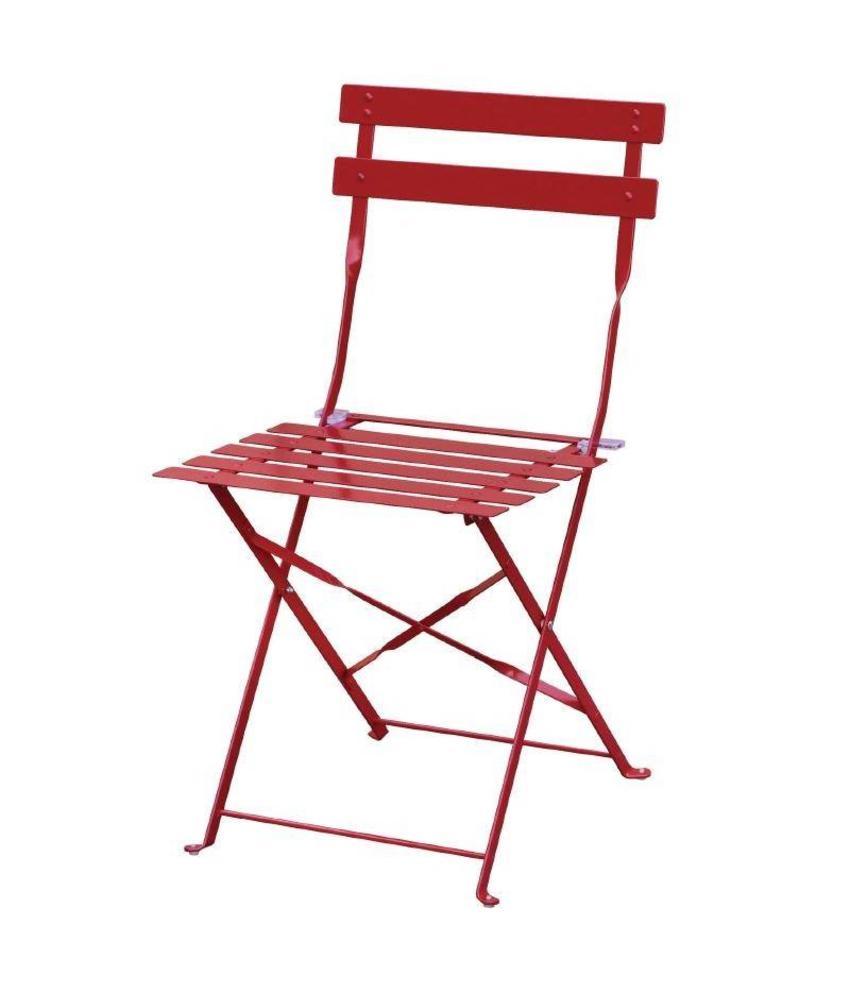 Bolero Bolero stalen opklapbare stoelen rood 2 stuks