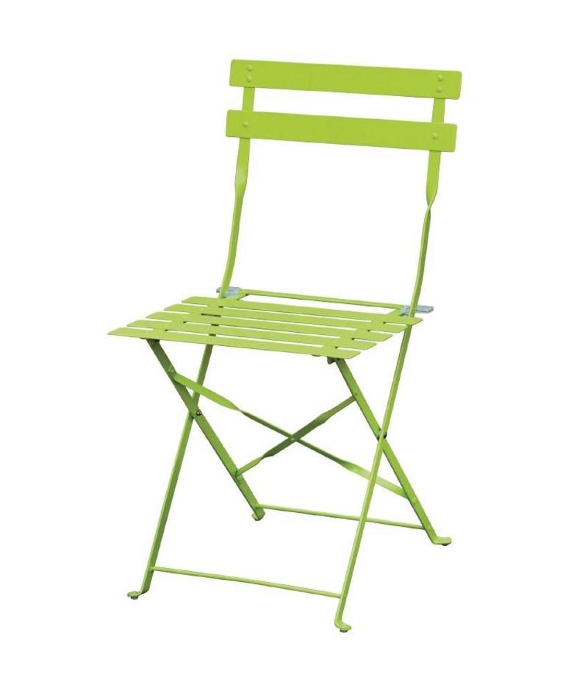 Bolero Bolero stalen opklapbare stoel groen 2 stuks