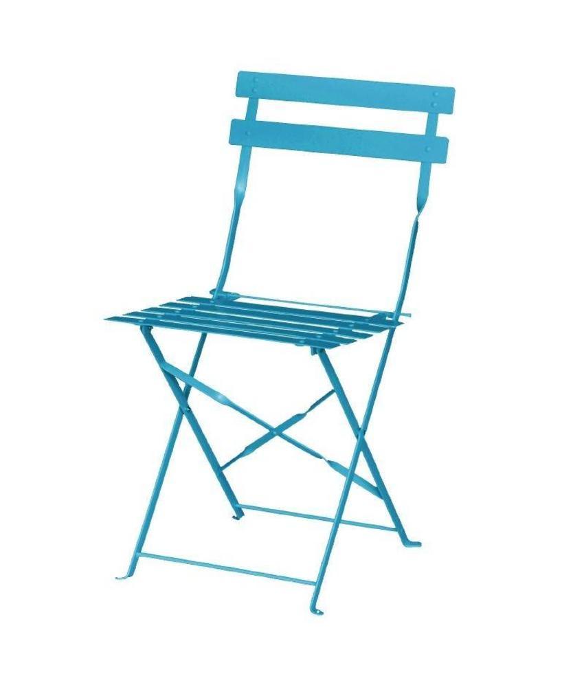 Bolero Bolero stalen opklapbare stoelen turquoise 2 stuks