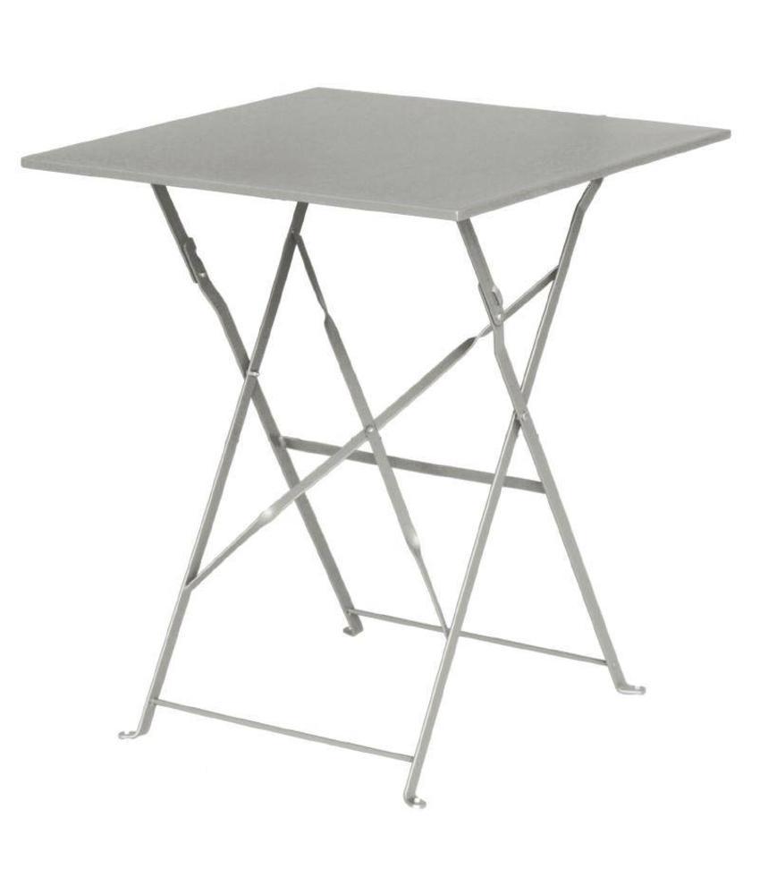 Bolero Bolero vierkante opklapbare stalen tafel grijs 60cm