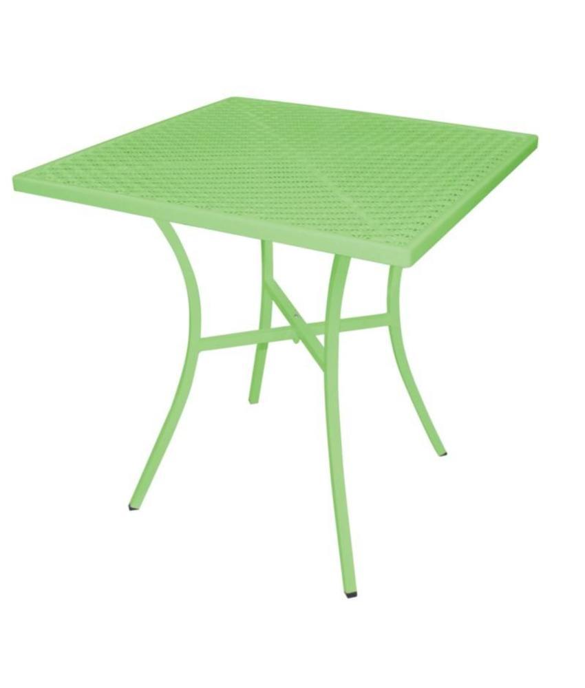 Bolero vierkante stalen bistro tafel lichtgroen 70cm