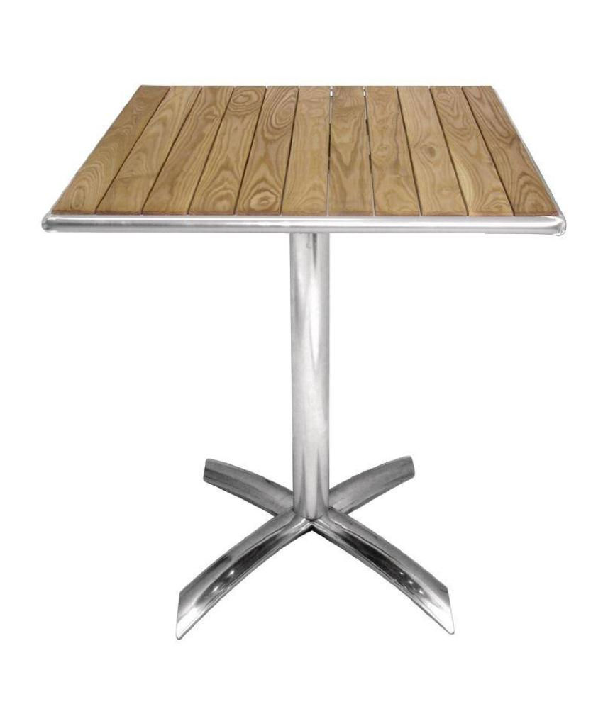 Bolero Bolero essenhouten opklapbare bistrotafel vierkant 60cm