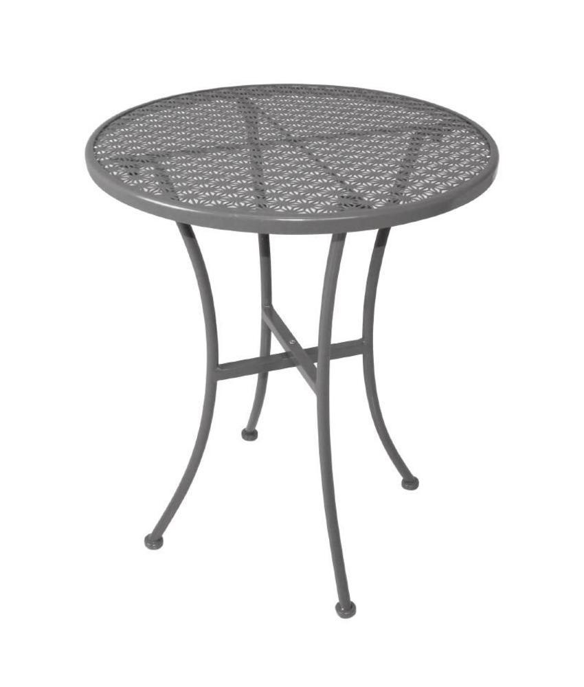Bolero Bolero ronde stalen bistro tafel grijs 60cm