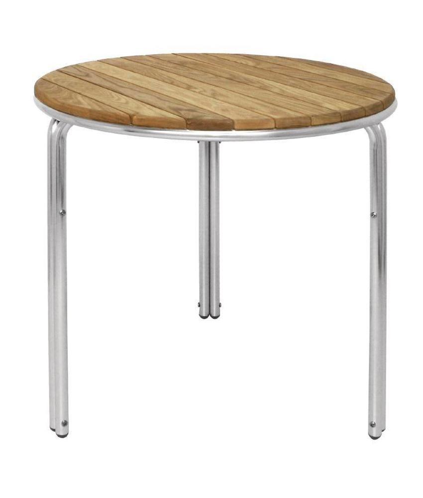 Bolero Bolero ronde essen en aluminium tafel 60cm