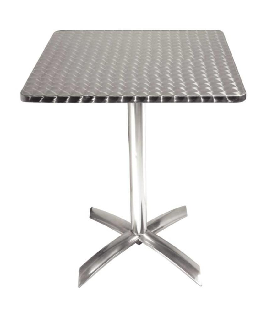 Bolero Bolero vierkante bistrotafel met kantelbaar RVS blad 60cm