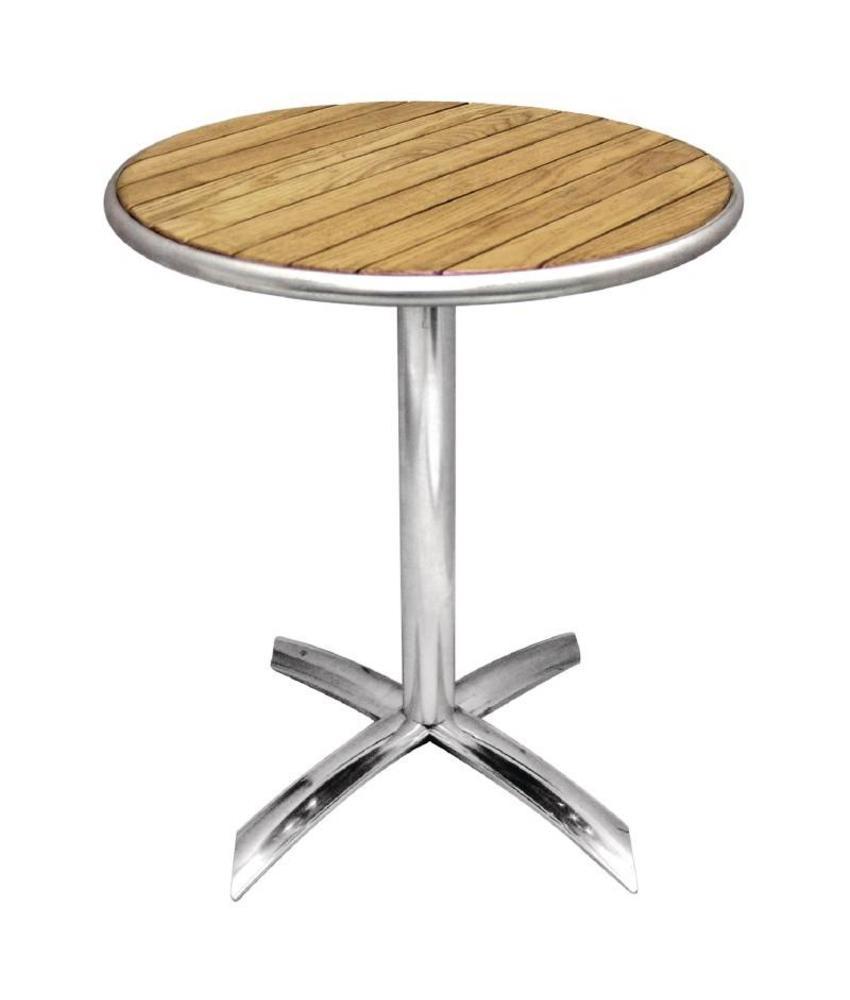 Bolero Bolero ronde tafel met kantelbaar essenhouten blad 60cm