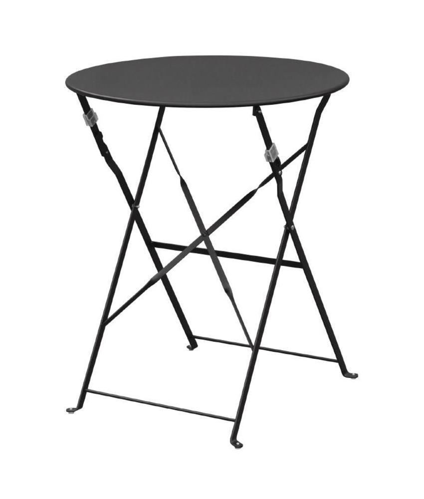 Bolero Bolero ronde stalen opklapbare tafel zwart 59,5cm
