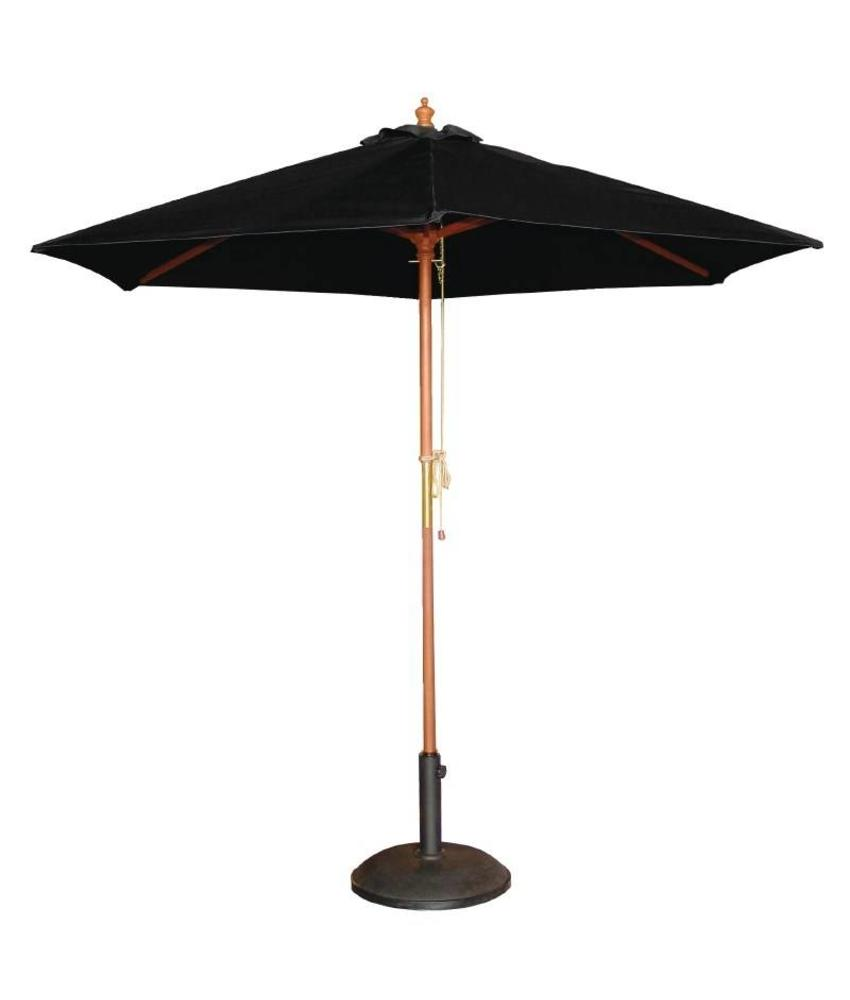 Bolero Bolero ronde zwarte parasol 3 meter