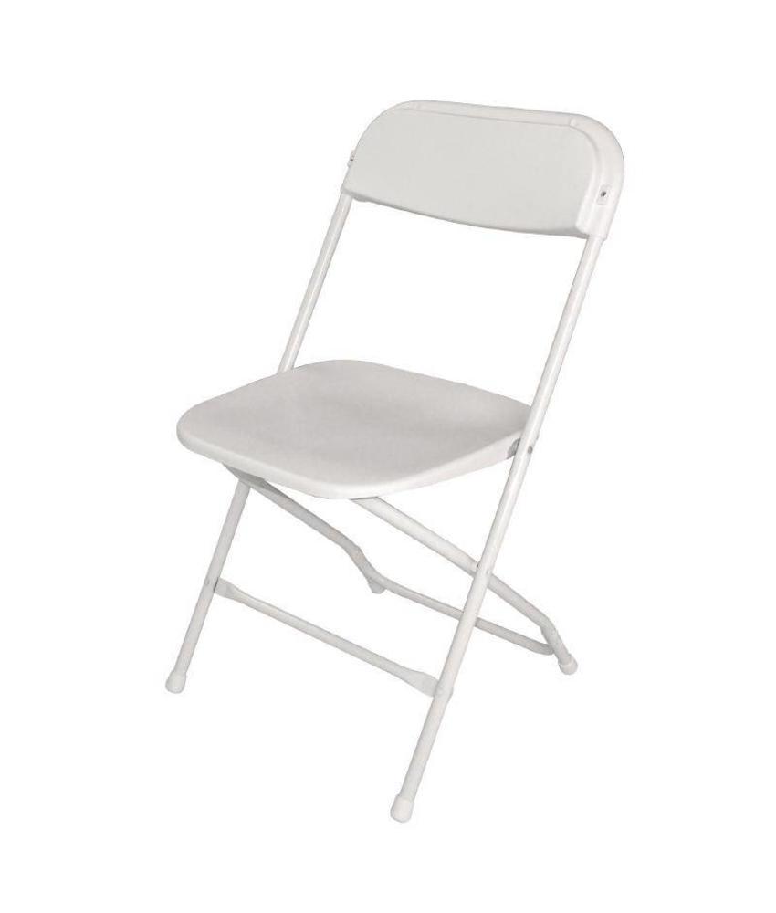 Bolero Bolero opklapbare stoel wit (10 stuks) 10 stuks