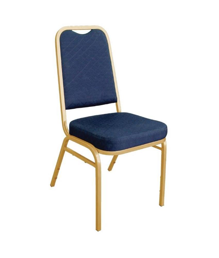 Bolero Bolero banketstoel met vierkante rugleuning blauw (4 stuks) 4 stuks