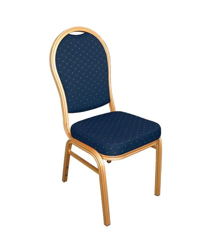 Bolero Bolero banketstoel met ovale rug blauw (4 stuks) 4 stuks