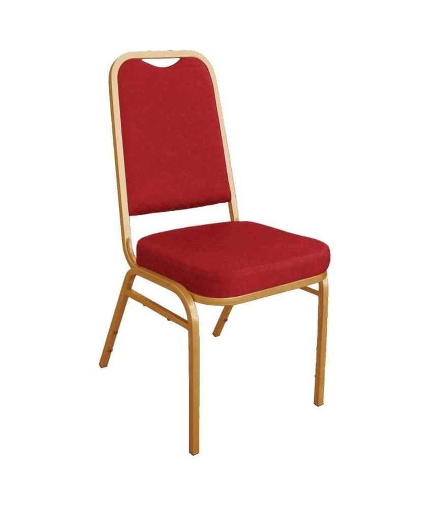Bolero Bolero banketstoel met vierkante rugleuning rood (4 stuks) 4 stuks