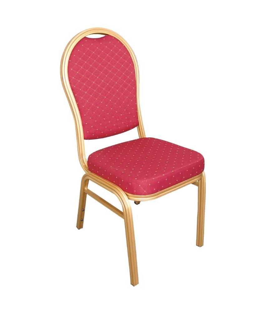 Bolero Bolero banketstoel met ovale rug rood (4 stuks) 4 stuks
