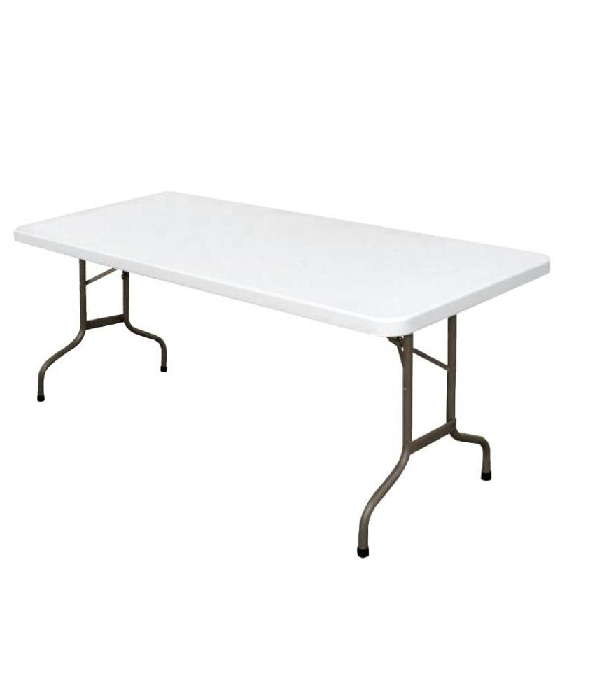 Bolero Bolero rechthoekige inklapbare tafel grijs 1,83m
