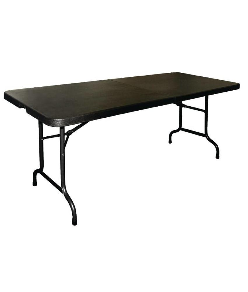 Bolero Bolero inklapbare tafel zwart 183cm