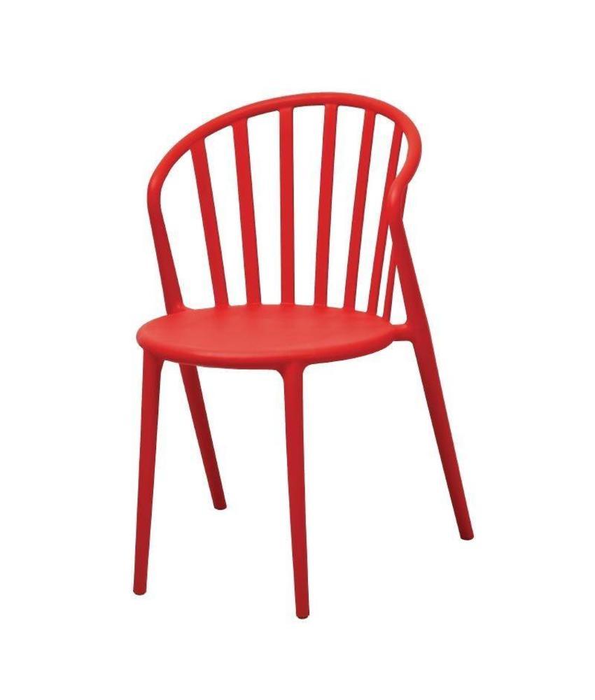 Bolero Bolero polypropyleen stoel rood - 4 stuks 4 stuks