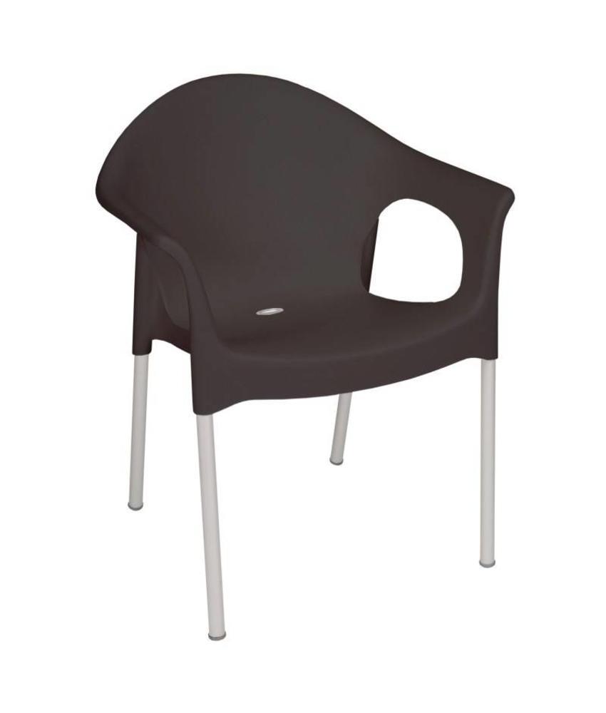 Bolero Bolero stapelbare zwarte stoelen met armleuning 4 stuks