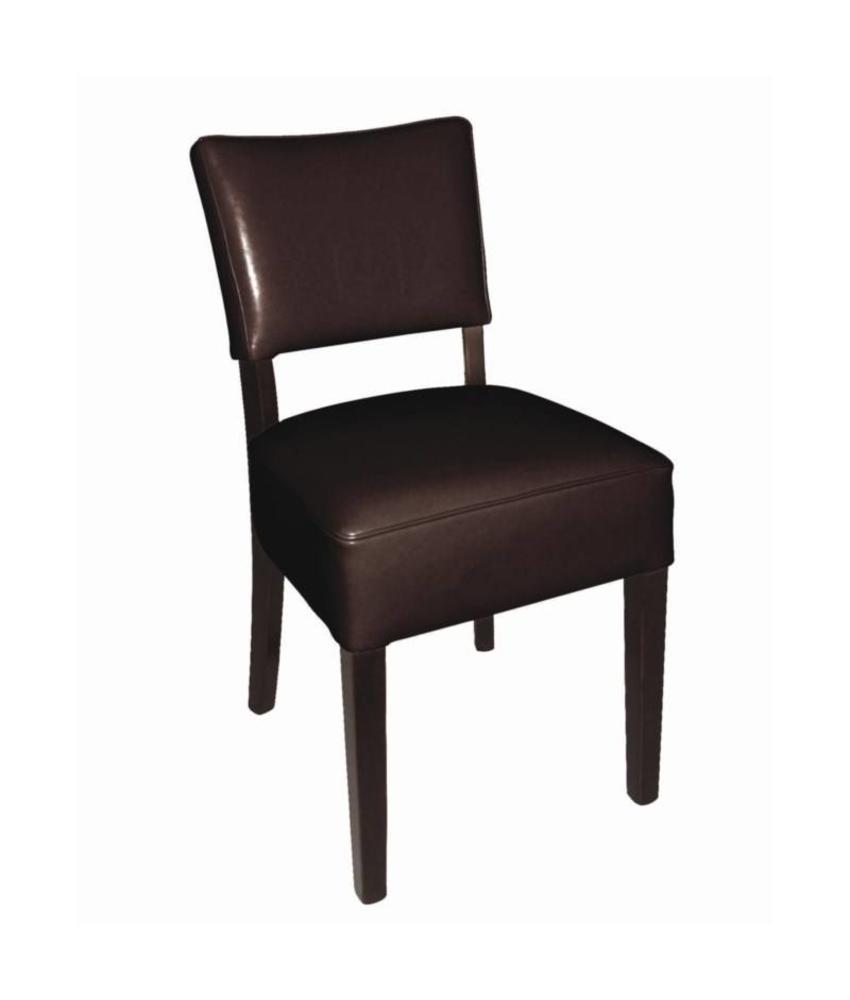 Bolero Bolero ruige kunstlederen stoel donkerbruin 2 stuks 2 stuks