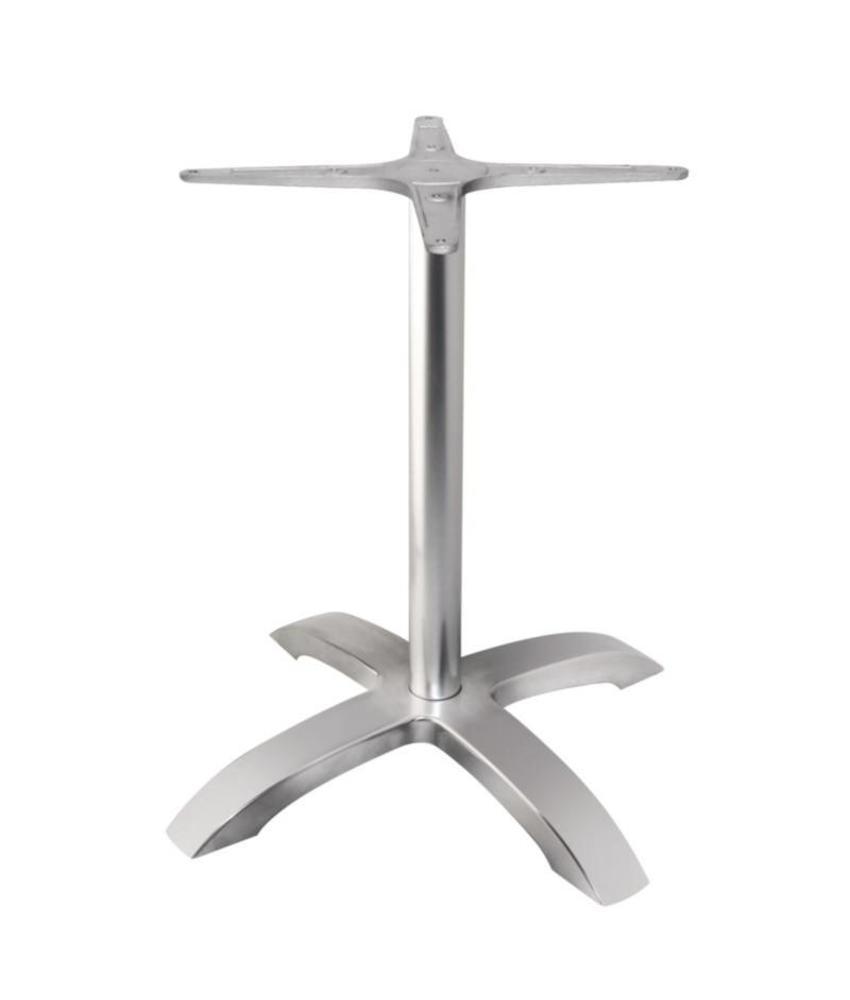 Bolero Bolero tafelonderstel met 4 poten geborsteld aluminium