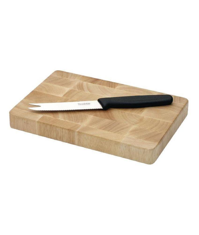 Vogue Vogue rechthoekige houten snijplank 15x23cm