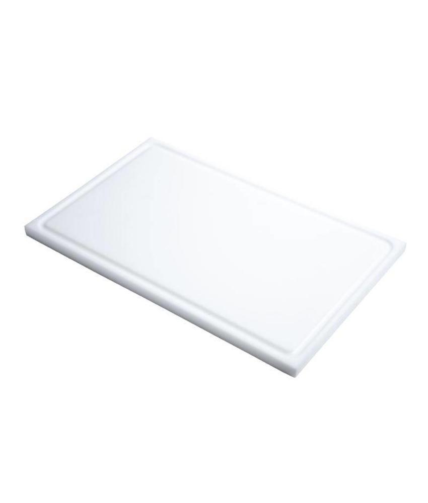 GASTRO-M Gastro M GN1/1 HDPE snijplank met sapgeul wit 15mm