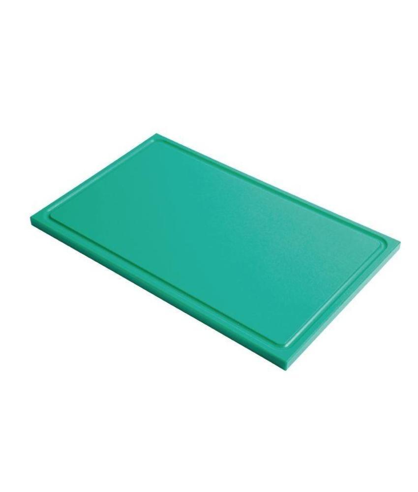 Gastro M Gastro M GN1/1 HDPE snijplank met sapgeul groen 15mm