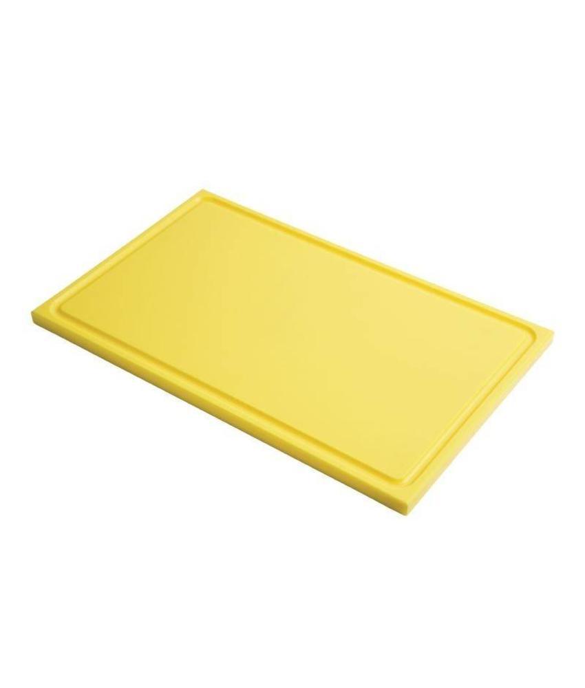 Gastro M Gastro M GN1/2 HDPE snijplank met sapgeul geel 15mm