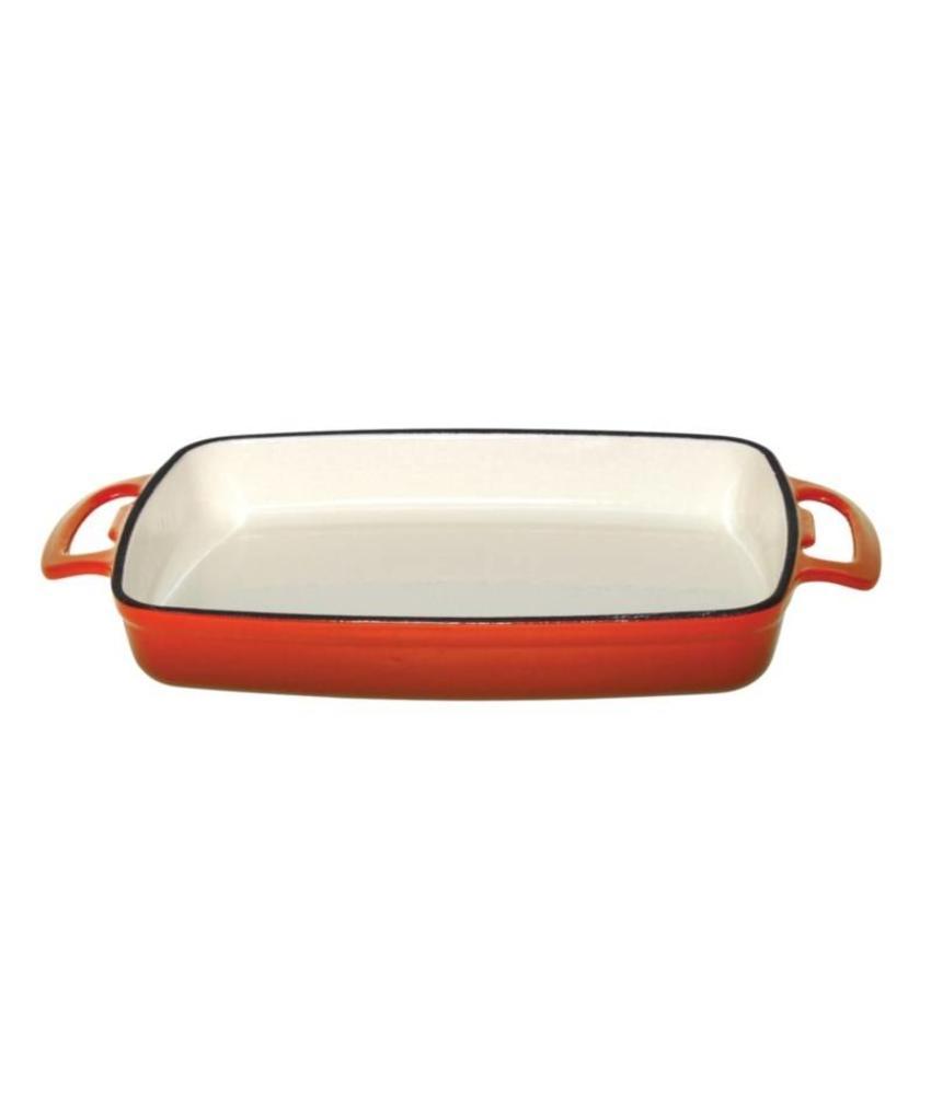 Vogue Vogue rechthoekige gietijzeren ovenschaal 1,8L oranje