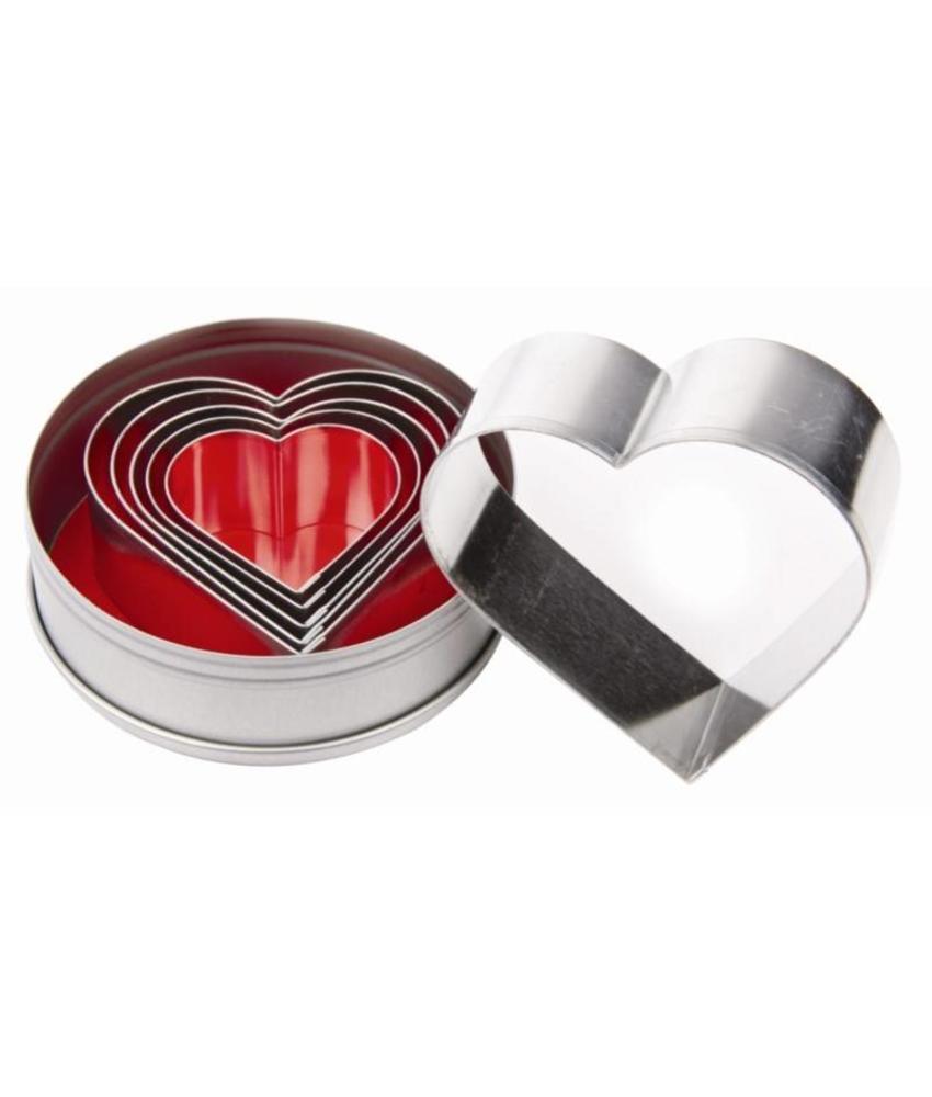 Vogue Vogue stekerdoos hartvorm 6 stuks