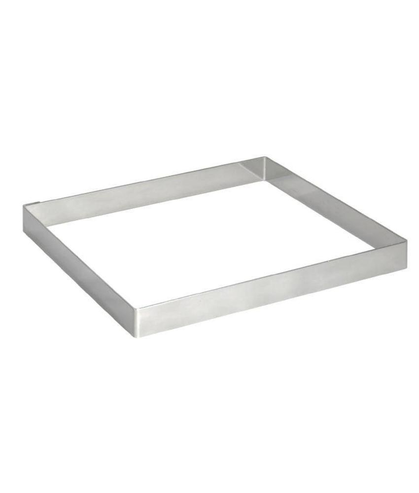 De Buyer De Buyer vierkante vorm RVS 8x2cm