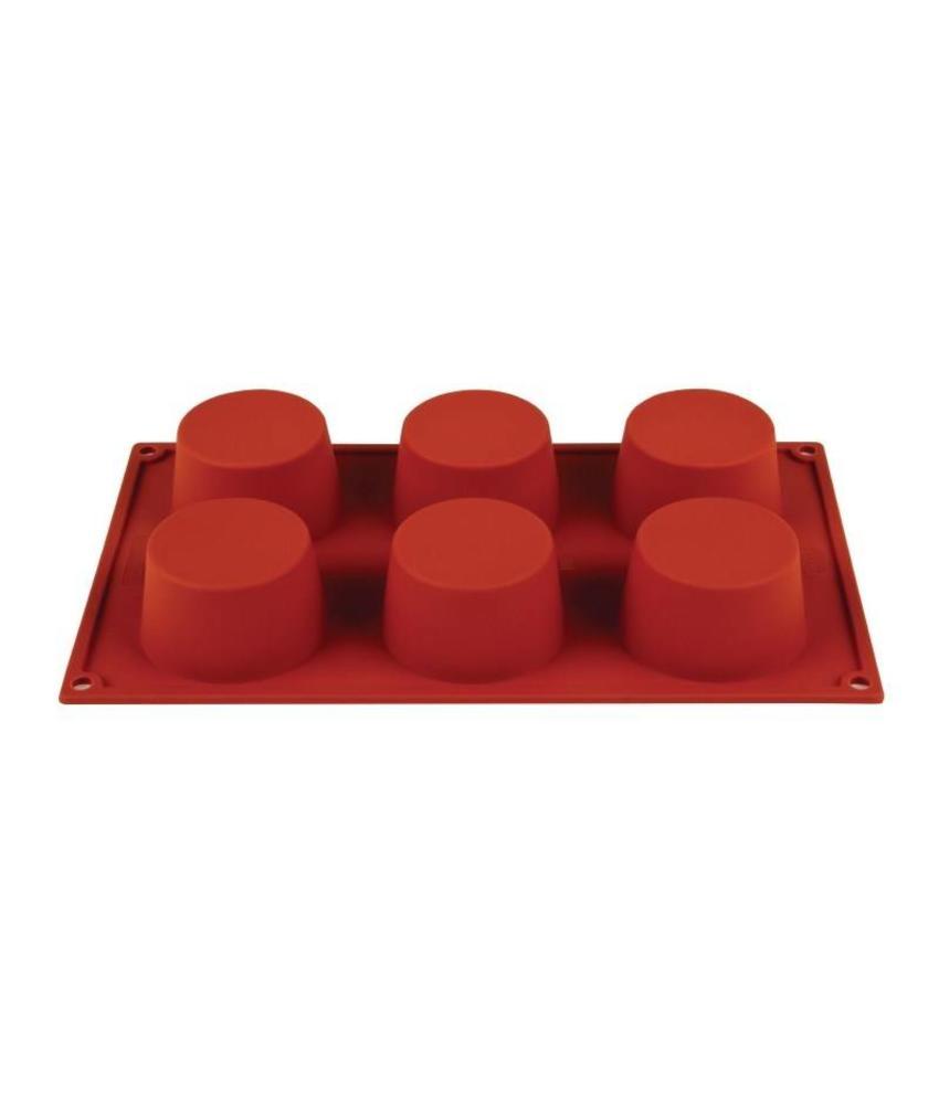 PAVONI ITALIA Pavoni Formaflex siliconen bakvorm 6 muffins
