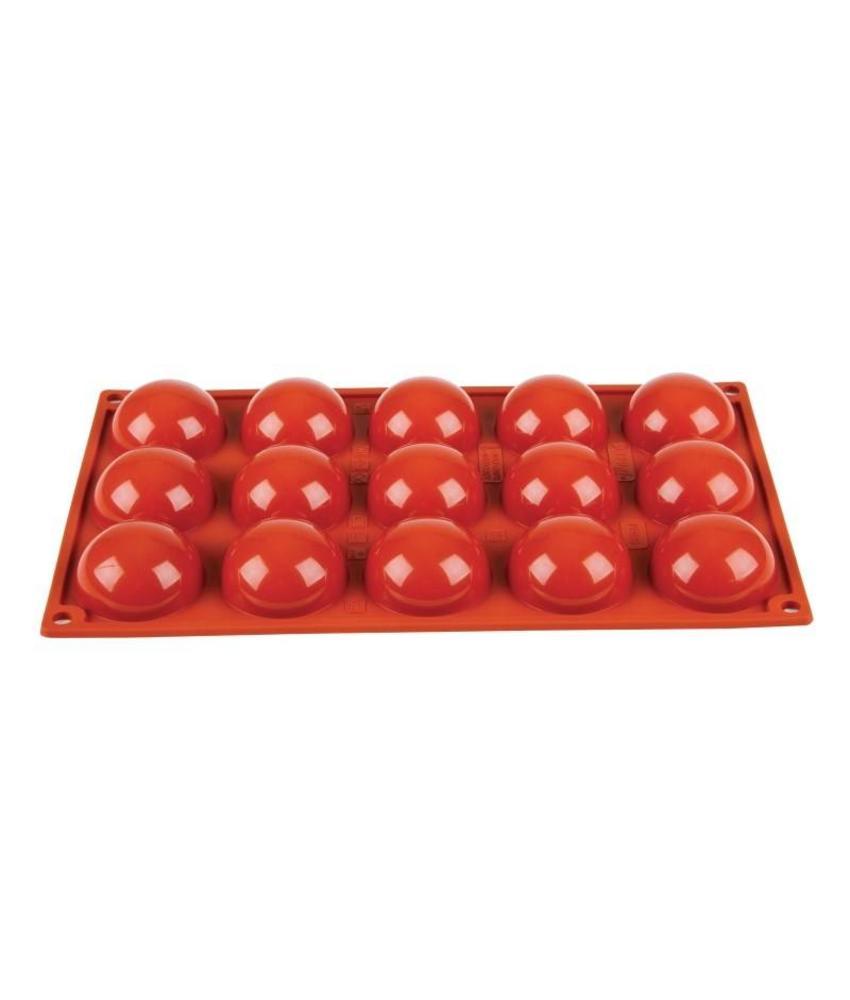 PAVONI ITALIA Pavoni Formaflex siliconen bakvorm 15 halve bollen