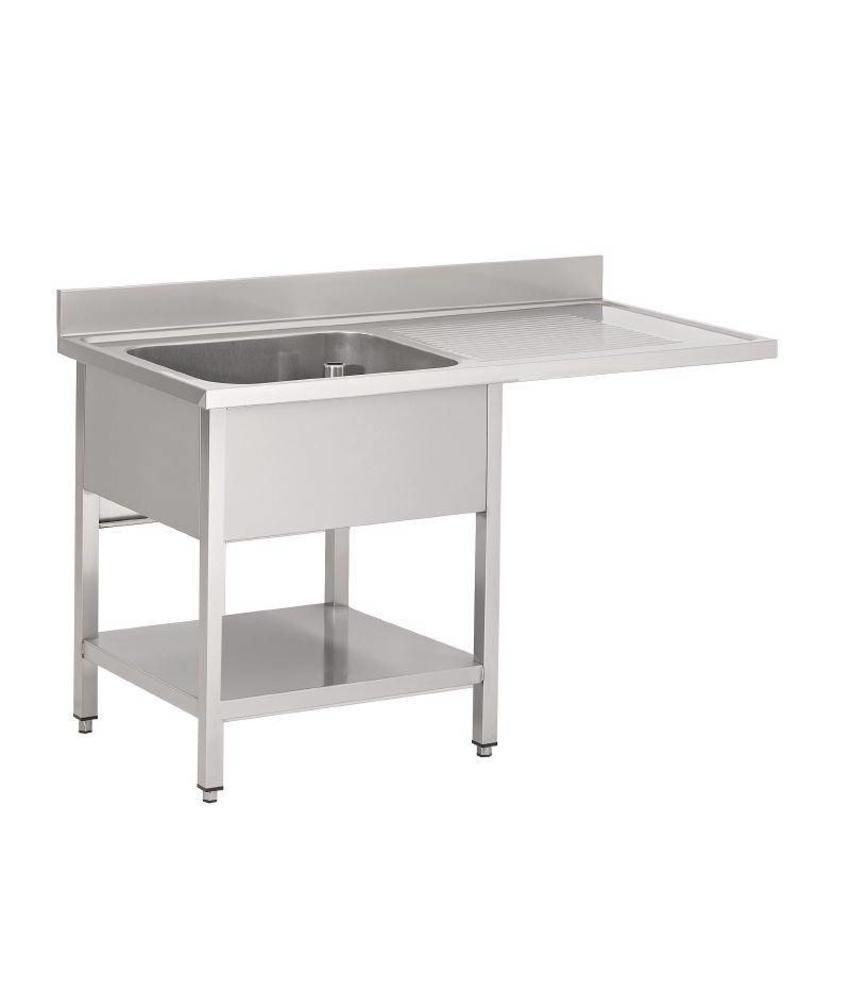 Gastro M Gastro M RVS spoeltafel met ruimte voor vaatwasmachine 120x70x85cm
