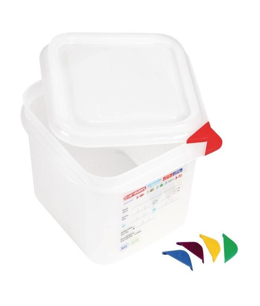 Araven Araven GN1/6 voedselbak met deksel 2,6L 4 stuks