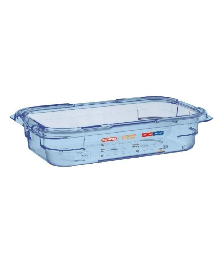 Araven Araven ABS blauwe GN1/4 voedseldoos 65mm