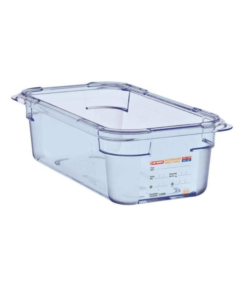 Araven Araven ABS blauwe GN1/3 voedseldoos 100mm