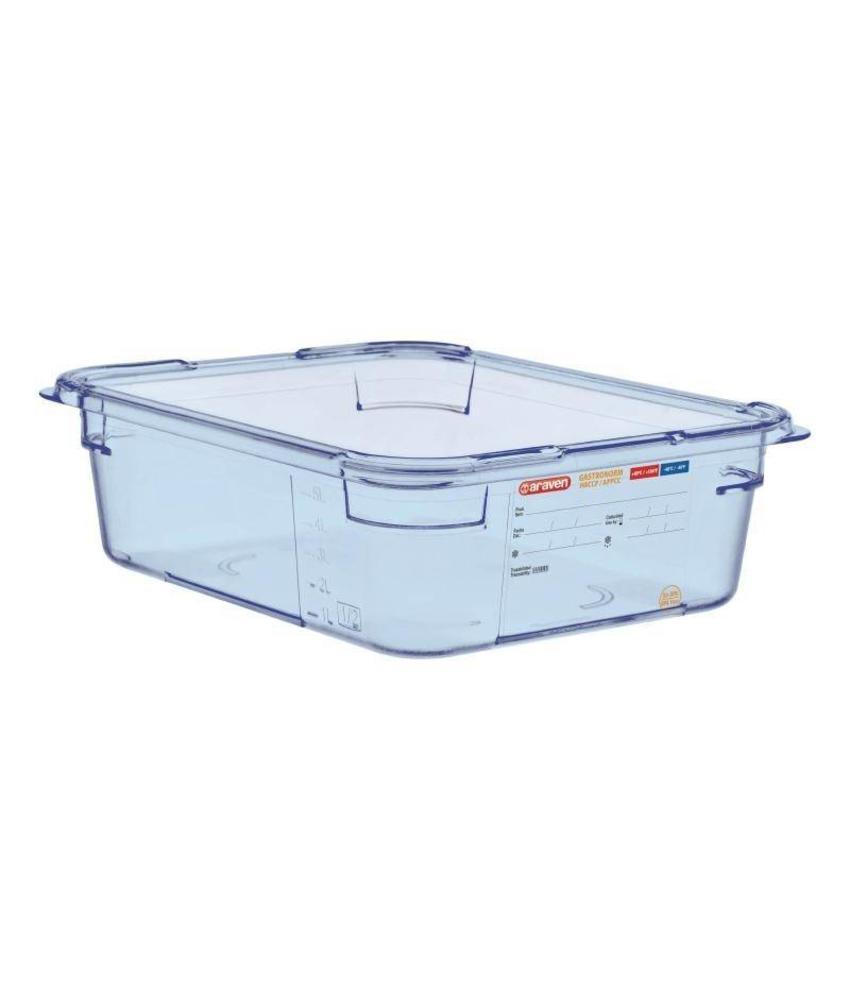 Araven Araven ABS blauwe GN1/2 voedseldoos 100mm